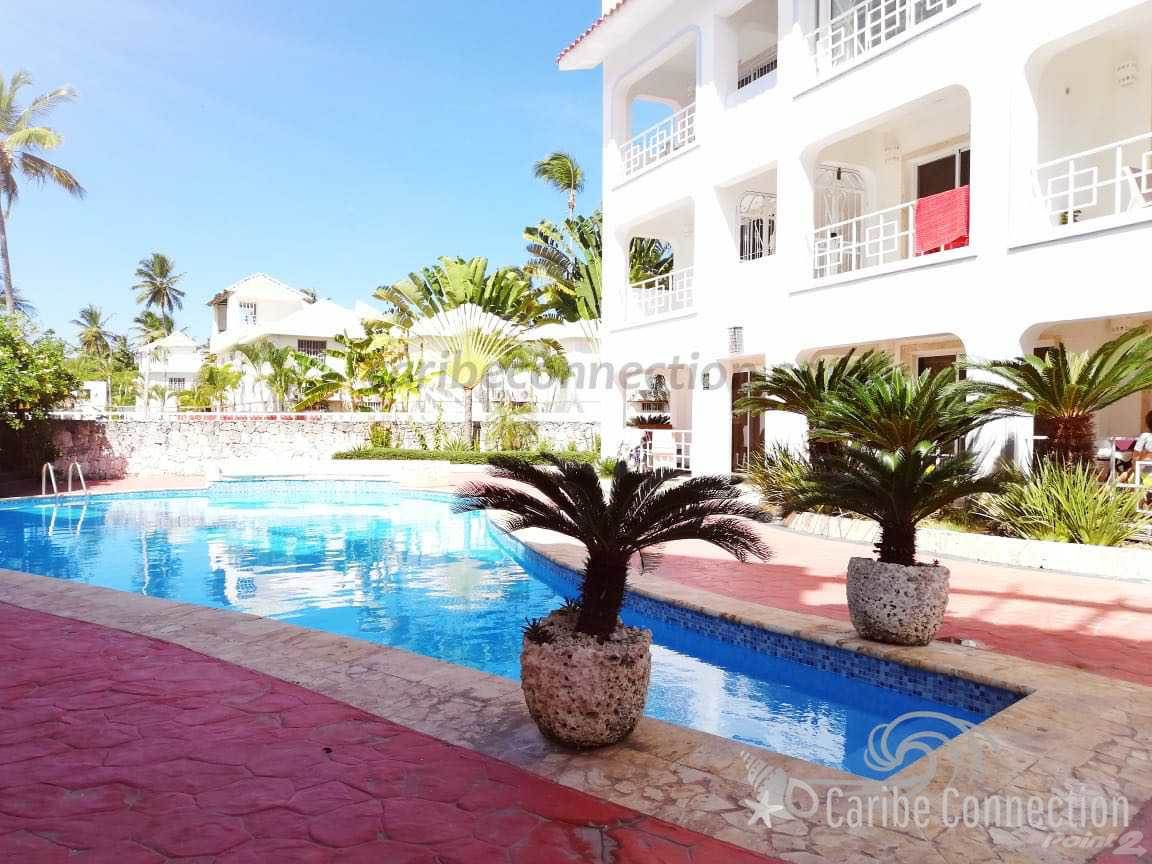 Appartement à vendre en Sun-filled ground floor apartment with two balconies in El Cortecito, Bavaro, La Altagracia ,23000  , République Dominicaine