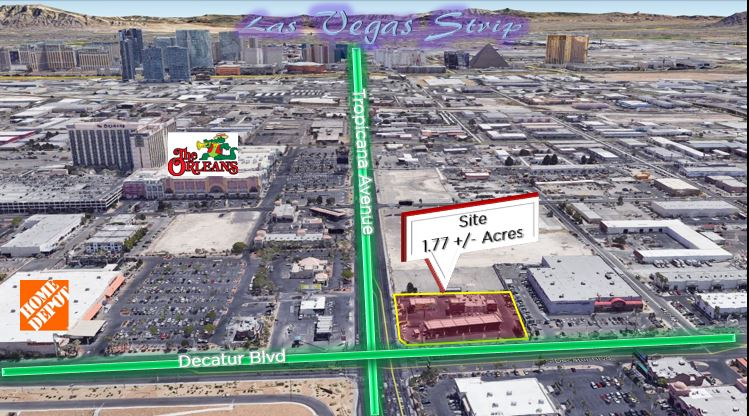 Commercial à vendre en 4885 W Tropicana Ave - Listed at $9,300,000, Las Vegas, Nevada ,89103  , États-Unis